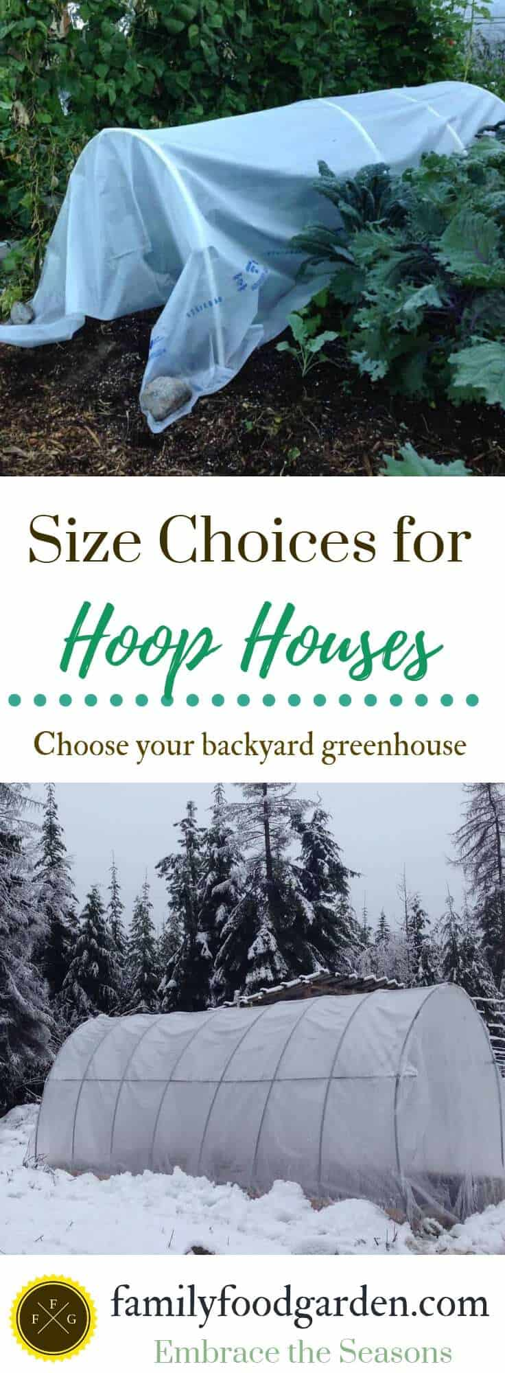 Hoophouse size options for the backyard greenhouse