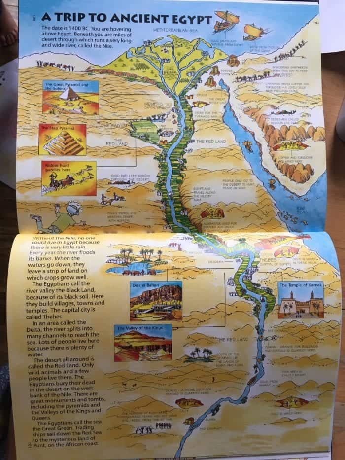 Usborne Time Travelers ancient Egypt history