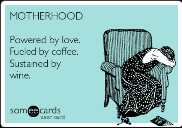 Coffee wine motherhood memes