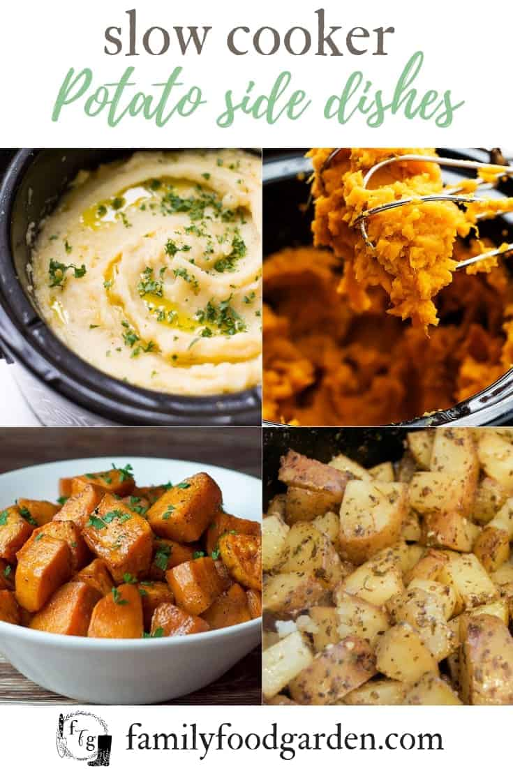 slow cooker potato side dishes #crockpot #sidedishes #crockpotholidays #slowcooker #slowcookersidedishes #thanksgiving #christmasdinner #slowcookerchristmas #slowcookerthanksgiving #crockpotrecipes