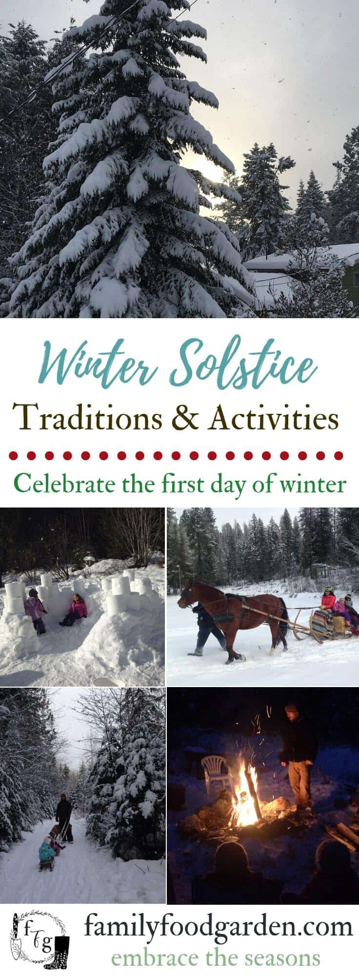 Winter Solstice Traditions to celebrate the first day of winter #wintersolstice #winter #winteractivities #holidays