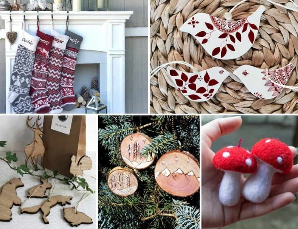 Woodland Christmas ornaments