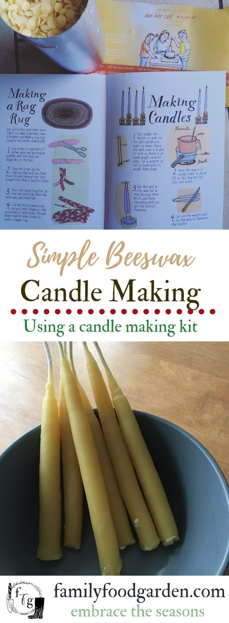 Candle making is an enjoyable way to enjoy the winter Christmas season. They make a great gift too! Candle making kit review using hand dipping beeswax candle making #candles #candlemaking #beeswax #simpleliving #homestead #homesteading #homeschool #kidscrafts #christmas #homedecor #wintersolstice #hygge