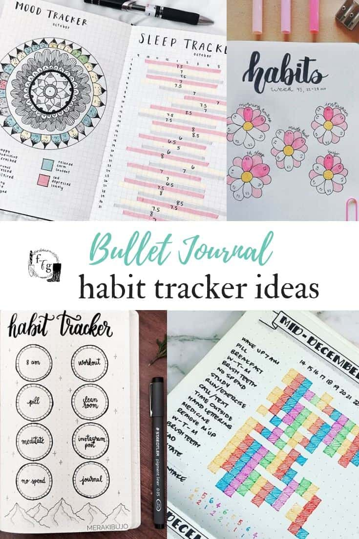 Create good habits by using a habit tracker with your bullet journal #bulletjournal #newyearresolutions #goals #goalplanning #planning #bujo #habittracker #newyearsresolutions #bulletjournalideas