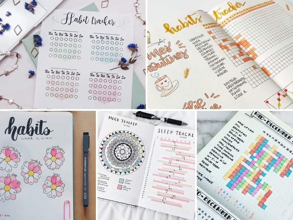Habit tracker ideas for creating good habits