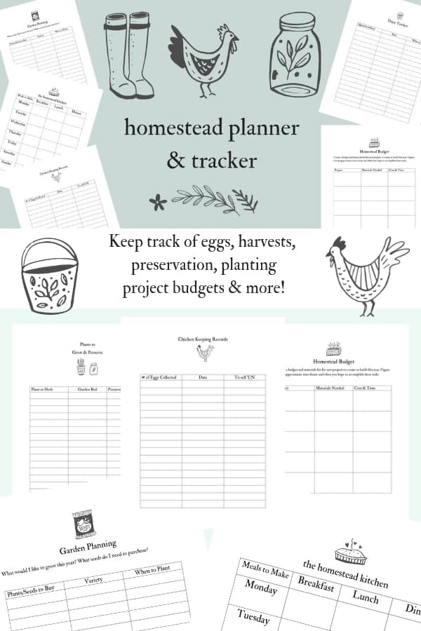 Homestead planning & record keeping