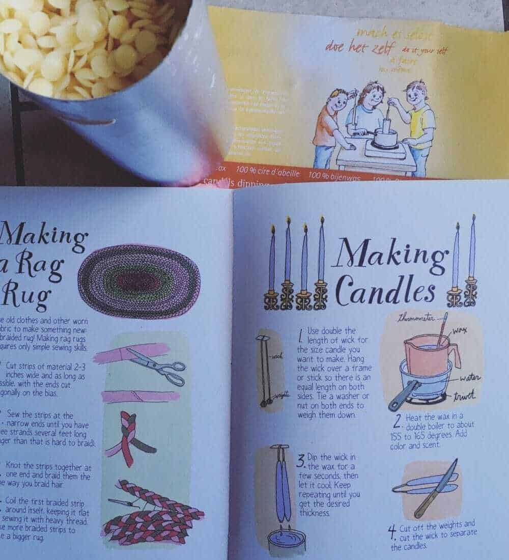 Simple living skills- Beeswax candle making