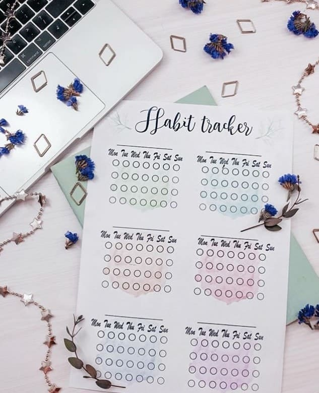 Create good habits with a printable habit tracker