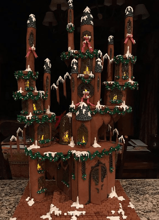 Stunning gingerbread castle