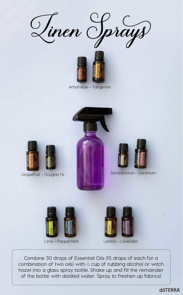 Homemade essential oil room spray