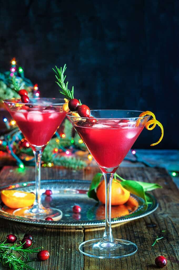 Cranberry Christmas Martini