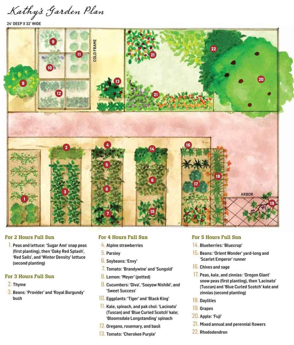 Vegetable Garden Plans, Designs + Layout Ideas