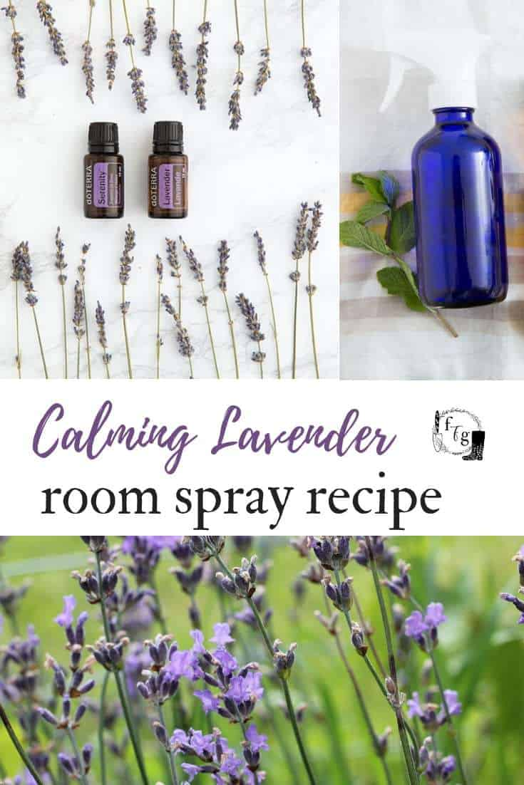 Lavender water room spray with essential oils