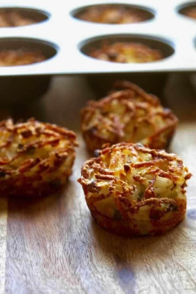Parmesan baked hashbrowns for an easy breakfast