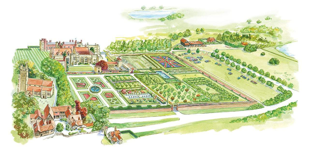 Garden layouts for the Penshurst Place