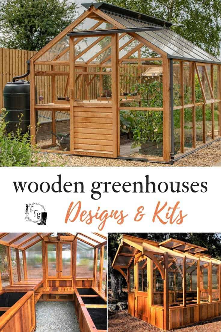 Great wooden greenhouse kits, ideas and designs. #backyardgarden #gardendesign #greenhouse #woodengreenhouse #garden #gardening #gardenideas
