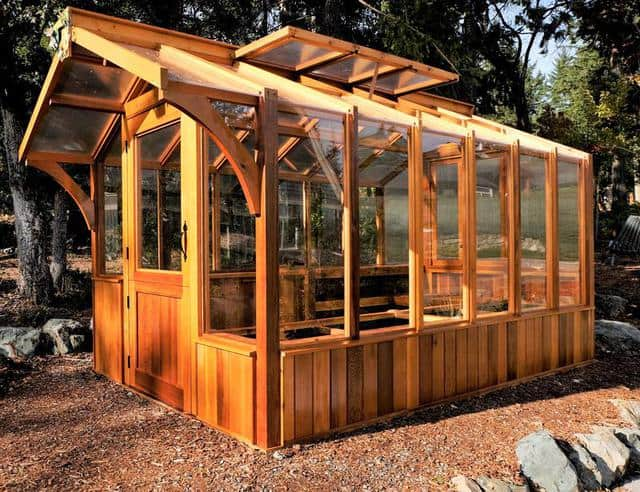 Backyard Wooden Greenhouses And Designs Family Food Garden