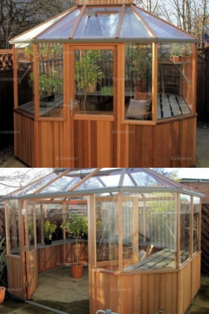 Backyard Wooden Greenhouses and Designs | Family Food Garden