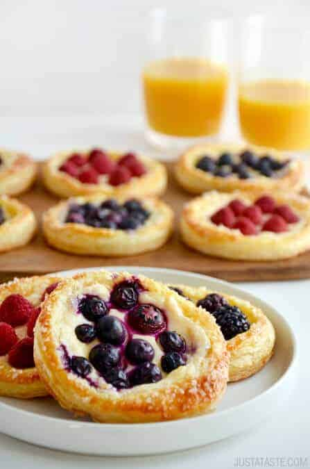 Fruit cream cheese breakfast tarts