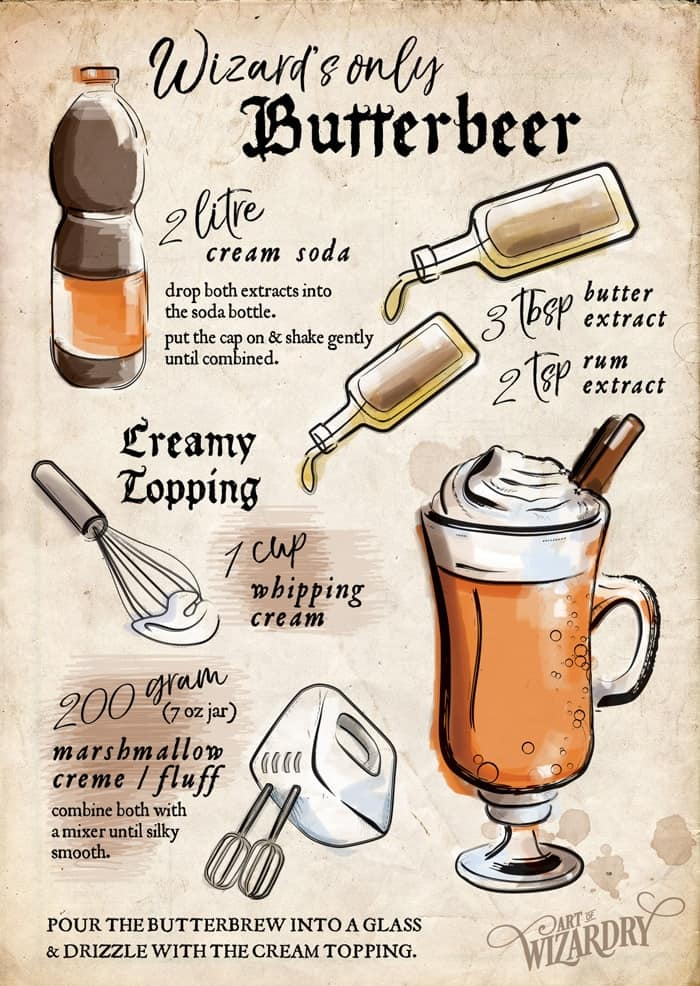 Adult Harry Potter Butterbeer recipe #harrypotter #harrypotterdrinks #butterbeer #harrypotterparty