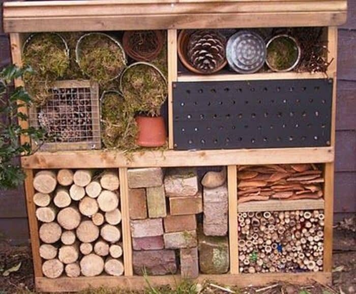 Build a bug hotel to attract those beneficial bugs! #organicgardening