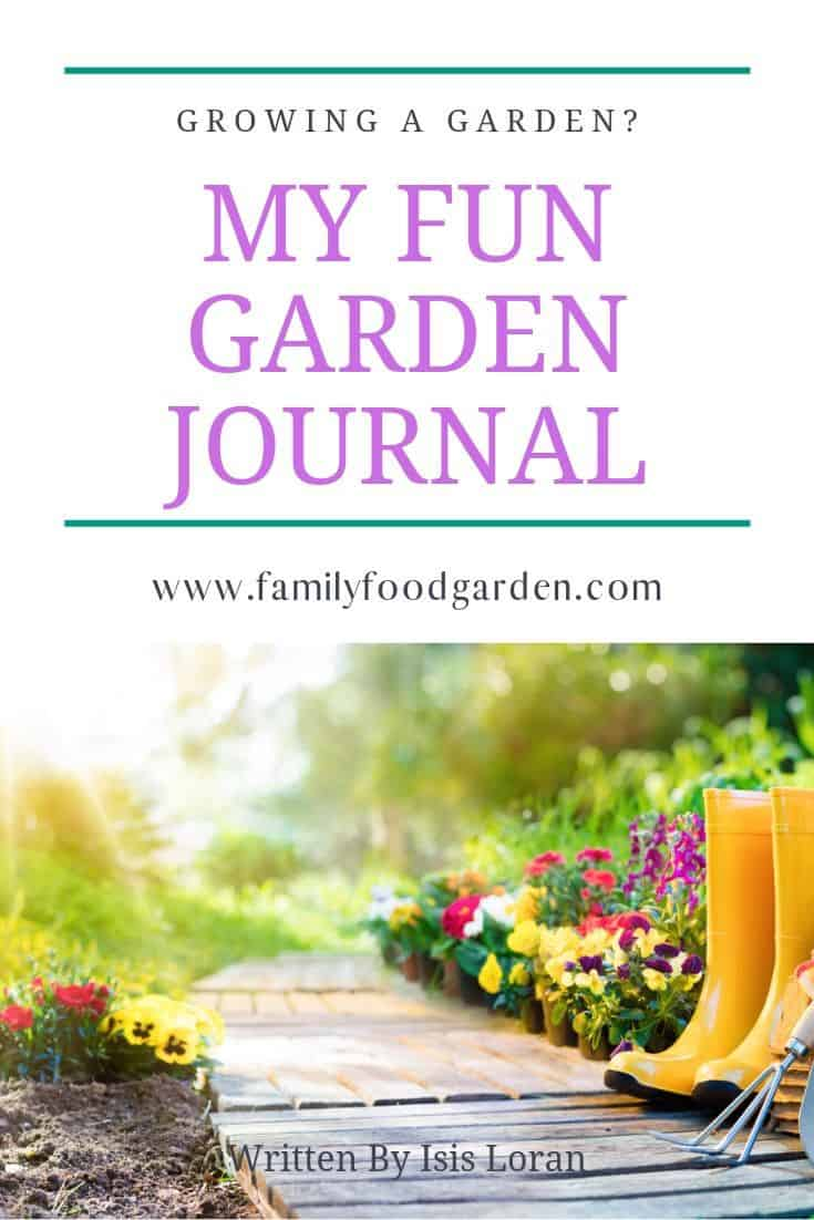 fun garden journal