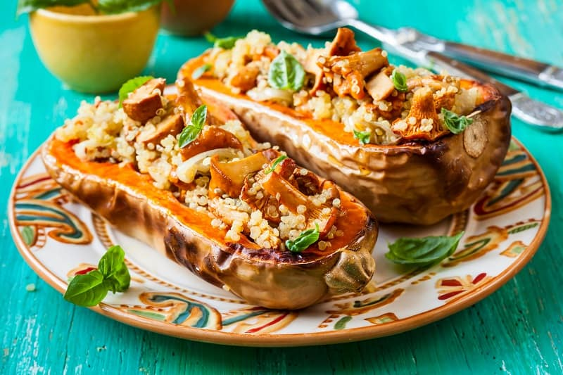 SAVORY MUSHROOM AND QUINOA STUFFED MINI PUMPKINS