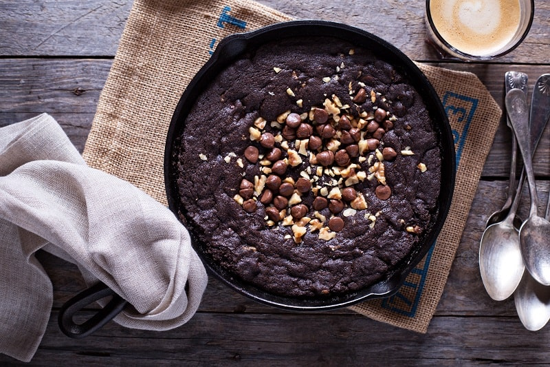 Grain Free Omega-3 Fudgy Walnut Brownie Skillet